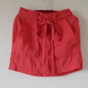 [Old Navy] Deep Orange Tie Waist Skirt